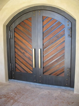 Staci Southwick Wine Doors With Recycled Redwood